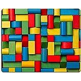 luxlady Gaming Mousepad imagen ID: 25998819juguetes bloques ladrillos de madera multicolor Grupo de Colorful Juego de construcción piezas