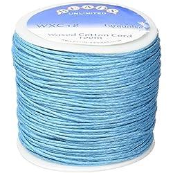 Macramé Hilo de algodón Cola de Ratón, Azul