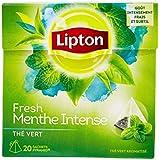 Lipton Thé vert à la menthe intense 20 sachets - Lot de 3