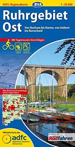 ADFC-Regionalkarte Ruhrgebiet Ost mit Tagestouren-Vorschlägen, 1:50.000, reiß- und wetterfest, GPS-Tracks Download: Von Bochum bis Hamm, von Haltern bis Remscheid (ADFC-Regionalkarte 1:50000)