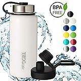 720°DGREE Edelstahl Trinkflasche noLimit 710 ml | Neuartige Thermosflasche +Gratis Sportdeckel | Auslaufsichere Isolierflasche | Perfekte Outdoor Sportflasche für Kinder