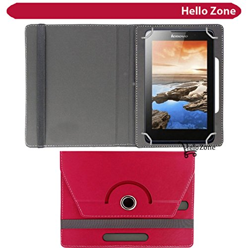 "Hello Zone 360° Rotating 7"" Inch Flip Case Cover Book Cover for Swingtel Hello Tab 2 -Pink  available at amazon for Rs.285"