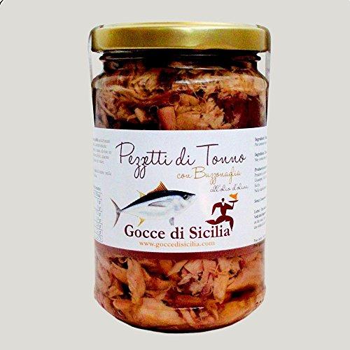 Gocce di Sicilia - Pezzetti di Tonno all'Olio di Oliva con Buzzonaglia