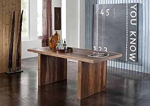 Table Bois Massif - Meubles en bois massif laqué table 100