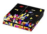 Skins4u Playstation 4 Skin Design Folie Sticker Set Aufkleber für Sony PS4 Vinyl Hochwertiger Druck in bunt - Tetrads Classic Gaming