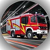 Fondant Tortenaufleger Tortenbild Geburtstag Feuerwehr T5