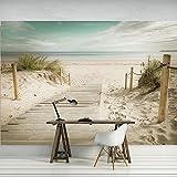 FORWALL Fototapete Vlies Tapete Moderne Wanddeko Strand VEXXXL (416cm. x 254cm.) AMF11597VEXXXL