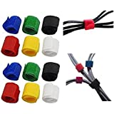 Okayji Fabric Multipurpose Cable Wire Tie Curtain Marker Straps Belts Holders (Multicolour) - Pack of 12