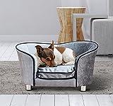 PawHut - Divano Letto Cuccia Animali Domestici Cani Gatti in Peluche 69 x 49 x 38cm Grigio Chiaro