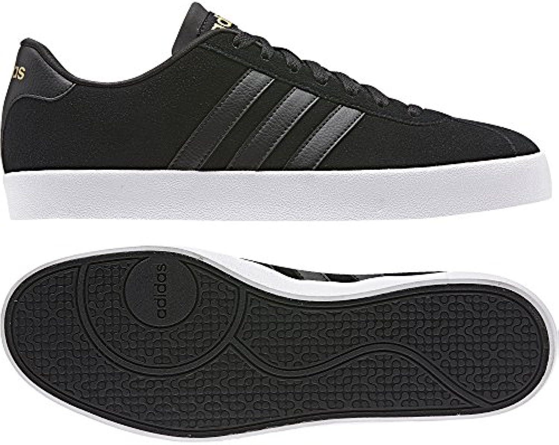 Adidas Vlcourt Vulc, Zapatillas para Hombre, Negro (Negbas/Negbas/Dormat), 46 EU