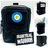 SEWAS Diabetic Care, Tasche für Blutzuckermessgerät & Diabetes Zubehör, mit 2 Klett Patsches,...