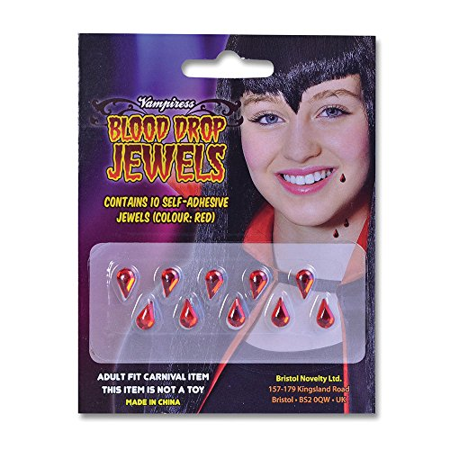 Bristol Novelty ba863Vampirin Blut Drop Jewels, One