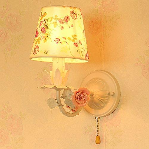 BOOTU LED Kinderzimmer Lampen Garten stoffen Mädchen Prinzessin Flower Wandleuchte Schlafzimmer Nachttischlampe Wandleuchte, 16 * 30 cm, zerbrechlichen Blume Schirm (Garten-chopper)
