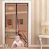 Magnet Fliegengitter Tür Moskitonetz Tür 90x210 cm,Yica Insektenschutz Magnet Vorhang Fliegenvorhang für Balkontür Wohnzimmer