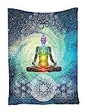 Indian Tapisserie Wandbehang Wandteppiche,Goldbeing Mandala Tuch Wandtuch Gobelin Tapestry Hippie-/ Boho Stil mit  Sign Chakra Kunstdruck als Dekotuch /Tagesdecke