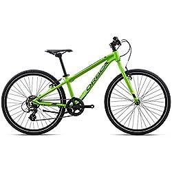 "Orbea MX 24Speed ""VTT Vélo pour enfant 7vitesses Roue aluminium jeunesse Kids VTT Shimano, I032 taille unique vert"