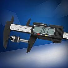 Instrumento de medida digital de Vernier Caliper de la exhibición digital electrónica (color: negro y plata)