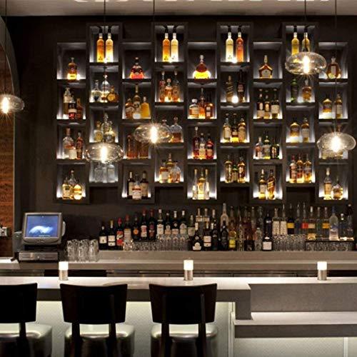 W-LI Moderne Industrie Glas Pendent Lampe Vintage Hängelampe E27 T125 Flöte Glühbirne Persönlichkeit Kreative Küchen Keller Hängende Lampe Höhenverstellbar 28 cm Max 60 Watt, Braun (60-watt-industrie-lampe)