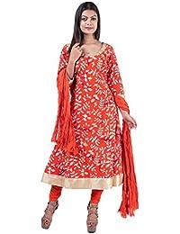 [Sponsored]Mamosa Designer Women's Cotton Red Printed Anarkali Kurti And Leggings Set With Dupatta For Women Salwar Suit...