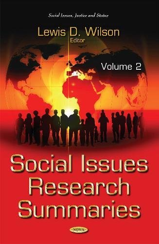 Social Issues Research Summaries (with Biographical Sketches): Volume 2 (Social Issues Justice Status S)