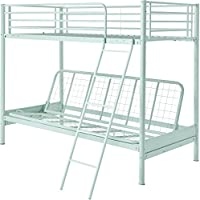 Tesco Mika Metal Frame Single Bunk Bed with Double Pull-Out Futon - (Mint)