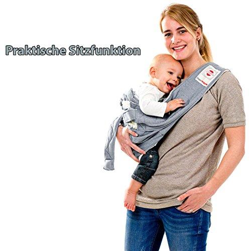 Lodger Shelter 2.0 - 3in1 Babytrage, Babytragetuch, Babysling sowie Transportdecke für Babys und Eltern, ab Geburt bis 18 Monate (max. 12kg), Sicheres Verschlusssystem, Trage-Tuch für Babys und Kinder, Schönes Design, Neu und OVP - 5