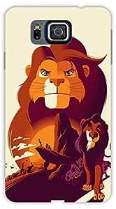 Crazy Beta LION ANIMALS DESIGN Printed Back Cover for Samsung Galaxy Alpha
