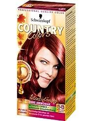 Country Colors Intensivtönung, 58 Grand Canyon Granatrot, 3er Pack (3 x 1 Stück)