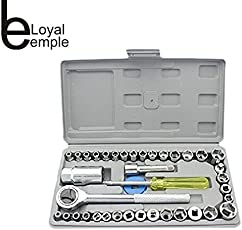 LOYAL EMPLE 40 in 1 Screw Driver Set for Automobile Motorcycle Tool Box with Socket/ Wrench Sleeve Suit Hardware