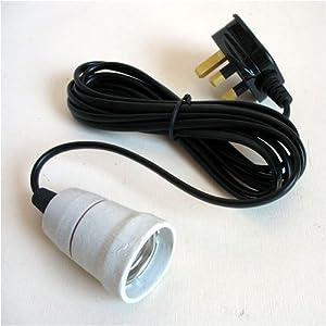 """Reptile Vivarium Ceramic Bulb Lamp Heater Holder ES (E27 1"""" 25mm) by Reptipet"""