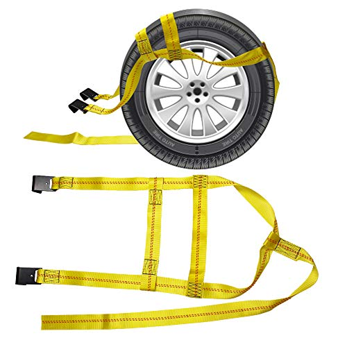Max Breaking Strength 9000lbs CarBole Strong Heavy Duty Duplex Polyester Webbing Cargo Lift Sling Strap Strop 5cm X 1.8M Lifting Sling with Flat Loop 4 Tons