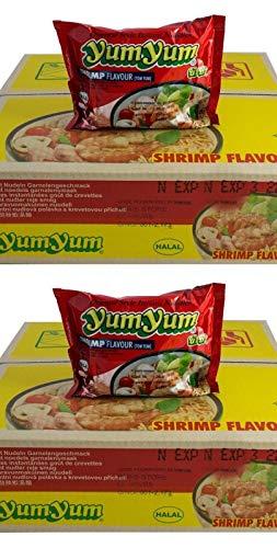 Pamai Pai® Doppelpack: 2 Kartons YumYum Shrimp Instant Nudelsuppen 60 x 60g Yum Yum Garnele