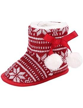 Huhu833 Weihnachtsball Baby Weiche Sohle Schneeschuhe Weiche Krippe Schuhe Kleinkind Stiefel