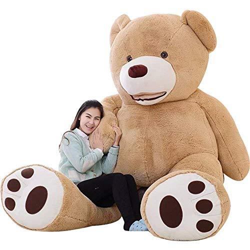 IKASA 200cm Teddy Bear Gigante con Grandes Huellas Juguete de Peluche Suave Animal de Peluche Marrón Claro