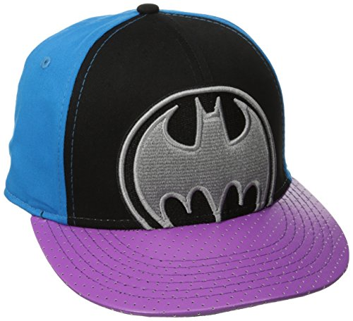 DC Comics Batman Embroidered Logo Neon Snapback Baseball Cap