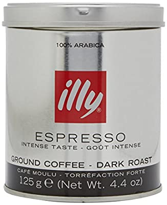 illy Dark Roast Ground Coffee 125 g (Pack of 3) by EURDH