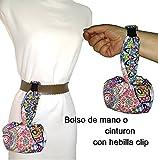 Sacchetto o cintura a mano, MANDALA. Ideale per passeggiare o ballare. Lavabile esclusivo e brevettato. Meglio e più confortevole del cinturino.