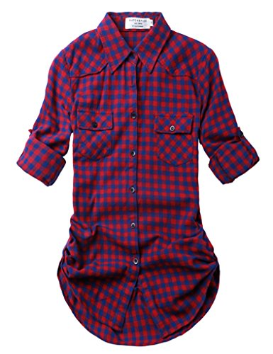 Match Donna Flanella Plaid Camicia #B003 2021 Checks#22