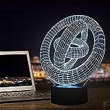 MAXDZ 3D LED Nachtlicht, Optische 3D-Illusions-Lampen Tischlampe Nachtlichter 7 Farben Berührungsschalter Schreibtischlampe mit USB-Kabel Kinder Illusion Nachtlampe