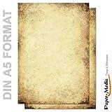 Motivpapier - Briefpapier ALTES PAPIER (Beidseitig) 50 Blatt DIN A5 Format 90g/m²