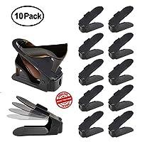 ACHATPRATIQUE Shoe Space Saver | Double Shoe Stacker for Closet | Shoe Organizer 10 Piece Set