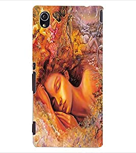 ColourCraft Beautiful Girl Design Back Case Cover for SONY XPERIA M4 AQUA