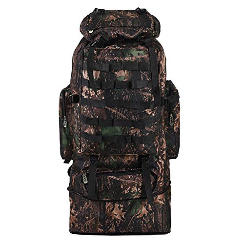 TnXan 100L Large Hiking Backpack Hiking Camping Backpack Hiking Backpack Camouflage Soft Bottom Backpack Men and Women Sports Backpack Camping Backpack travel Backpack