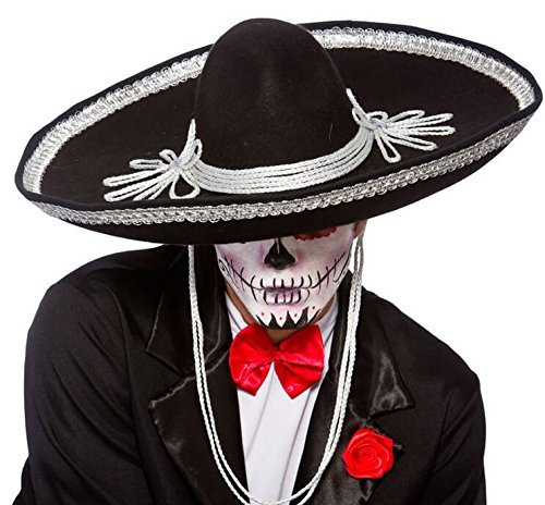 Sombrero Black Hat Halloween Accessory - Make-up-halloween-ideen Männer