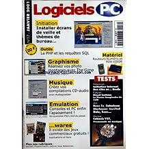 LOGICIELS PC [No 17] du 01/01/2001 - - INSTALLER ECRANS DE VEILLE ET THEMES DE BUREAU - OUTILS - LE PHP ET LES REQUETES SQL - GRAPHISME - REALISEZ VOS PHOTOS MONTAGES AVEC THE GIMP - CREEZ VOS COMPILATIONS CD-AUDIO - EMULATION - CONSOLES ET PC ENFIN - WARES - IL EXISTE DES JE