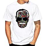 JJZHY T-Shirt con Stampa Stan Lee Maglietta con Stampa Marvel Hero Fashion,F,XL