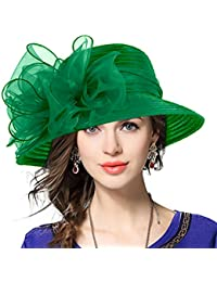 Señora Oaks Derby Iglesia Vestido Sombrero Bucket Boda Bowler Sombreros