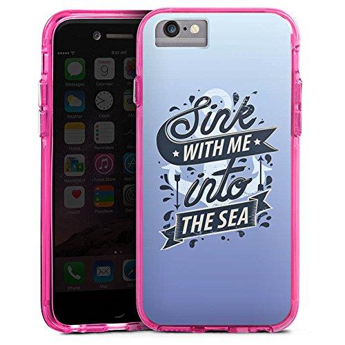 Apple iPhone 6s Bumper Hülle Bumper Case Glitzer Hülle Ocean Meer Mer Bumper Case transparent pink