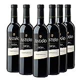 Antaño Tempranillo Vino Tinto D.O Rioja, Volumen de Alcohol 13% - Pack de 6 Botellas x 75 cl