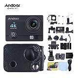 Andoer Q3H 2 Ultra-HD LCD 4K 25FPS 1080P 60FPS Wifi Cam FPV Videoausgang 16MP Action-Kamera 170  Weitwinkelobjektiv mit Tauchen 30 Meter wasserdichtes Gehäuse mit hängendem Carring-Schutzhülle